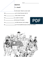 Present Simple Negative Worksheet