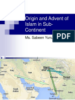 Origin and Advent of Islam in Sub-continent
