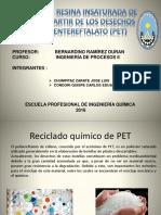 Obtención de Resina Insaturada de Poliéster a Partir de Los Desechos de Polietilentereftalato
