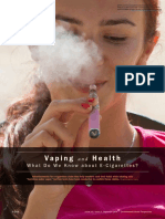 Vaping and Health What Do We Know About E-Cigarettes?