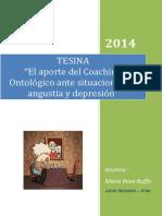 El Coaching Ontologico Aplicado a Situaciones de Angustia y Depresion - Autor_Maria_Rosa_Buffa