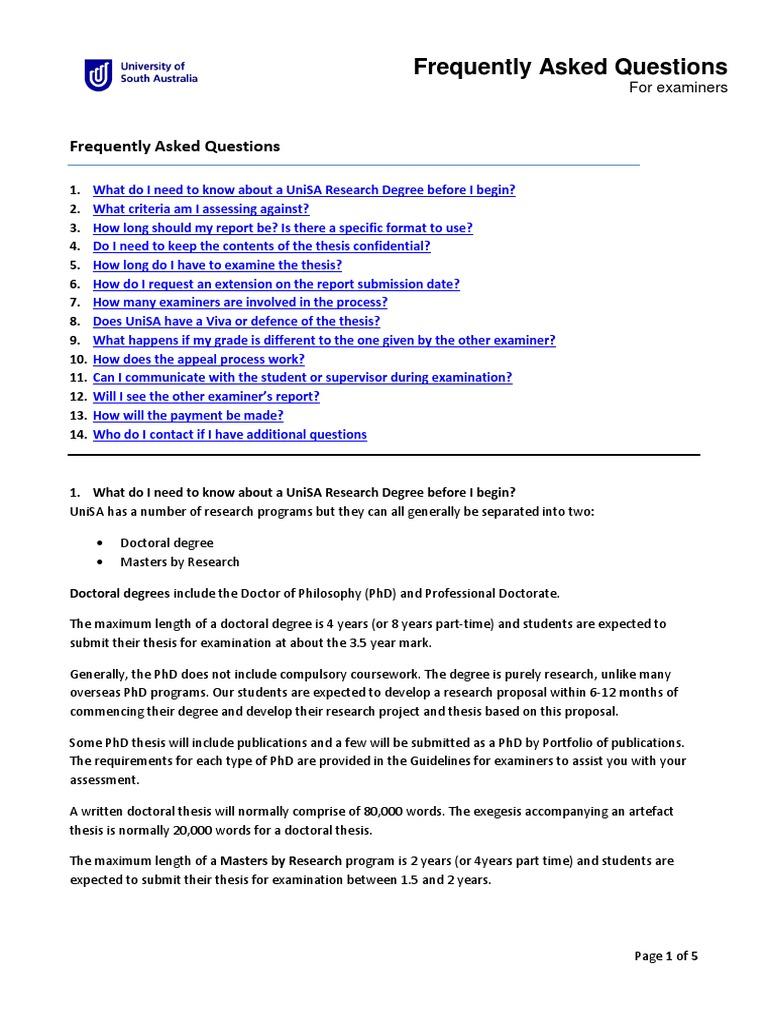 unisa research proposal