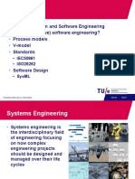 Topics. Relation System and Software Engineering Why (Automotive) Software Engineering- Process Models v-model Standards.