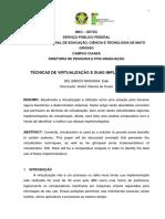 Tecnicas de Virtualizacao e Suas Implementacoes Autor Eder Del Barco Nishioka [104 070212 SES MT]