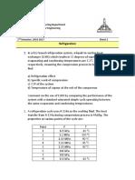 Refrigeration Sheet 2 - 2016-2017