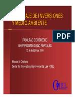 Apuntes de Clases - Arbitraje de Inversiones y Medio Ambiente (Marcos Orellana)