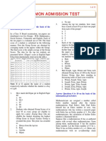 CAT Previous Paper 2006