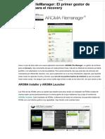 AROMA FileManager_ El Primer Gestor de Archivos Para El Recovery