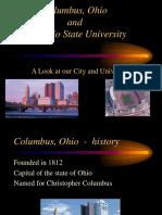 Columbus Ohio and the Ohio State University