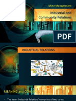 Industrial and Community Relations