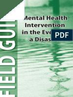 Intervenciones en Eventos de Desastres para Salud Mental