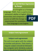 Sesi 1 Verb Agreement..