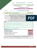 EVALUATION OF CYTOTOXIC ACTIVITY OF DICHOLOROMETHANE (DCM) AND METHANOL (MEOH) EXTRACT OF ROOT BARK OF CAPPARIS DECIDUA