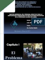 GESTIÓN GERENCIAL DEL PERSONAL DIRECTIVO PARA LA PARTICIPACIÓN COMUNITARIA EN INSTITUCIONES EDUCATIVAS DE LA PARROQUIA ALONSO DE OJEDA