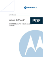 Motorola SBG6580 Modem UserGuide