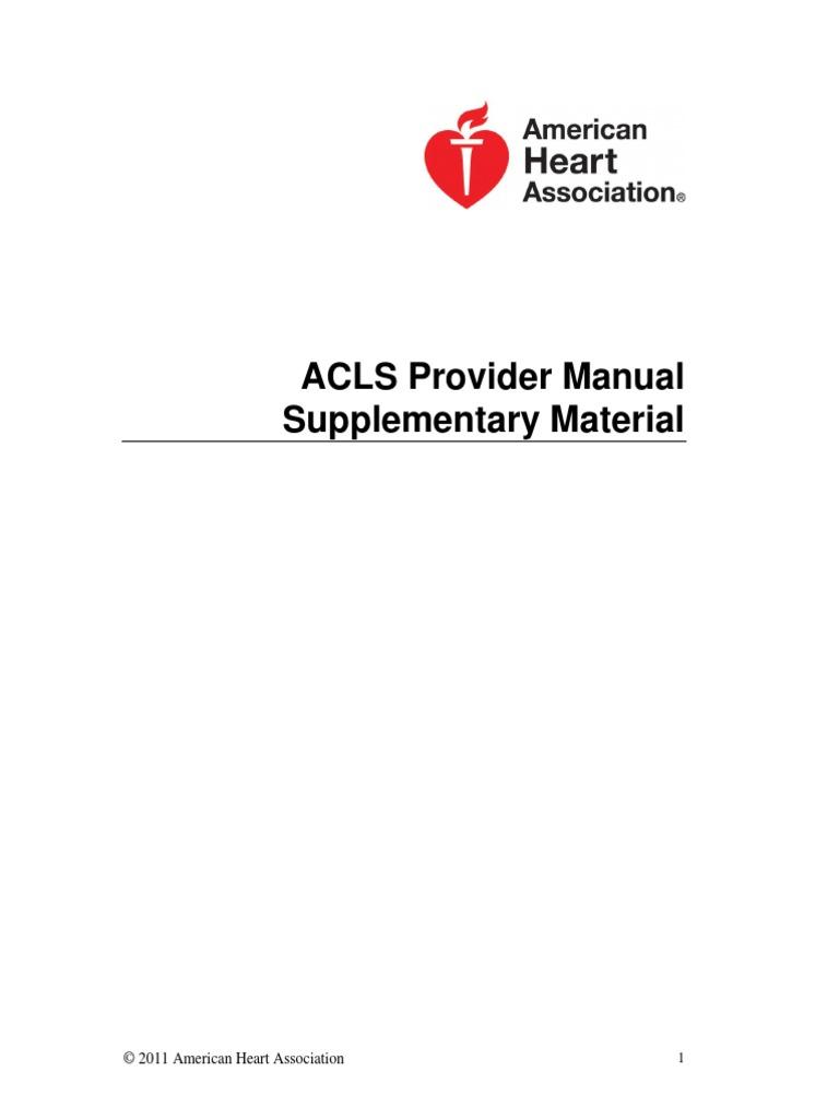 Acls Provider Manual 2011 Pdf
