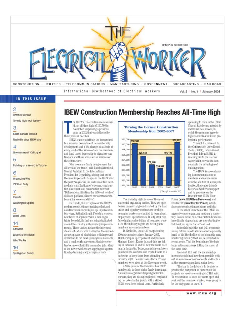 The electrical worker january 2008 verizon communications employment platinumwayz