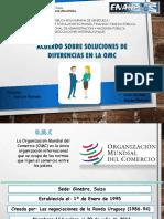Solución de Diferencia de la Organización Mundial de Comercio