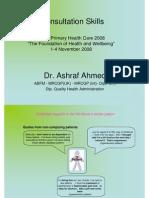 Dr Ashraf Ahmed - Consultation Skills