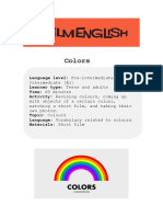 Colors Lesson Instructions