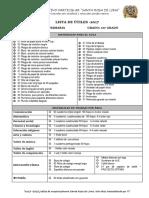 6.10 Lista de Útiles - 1er y 2do Grado de Primaria