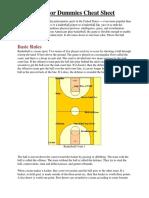 basketball for dummies cheat sheet