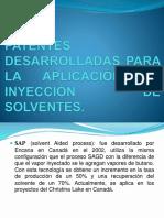 Patentes Desarrolladas Para La Aplicación de Inyección de Solventes