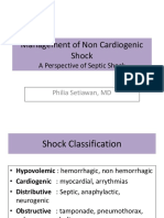 14.3 Management of Non Cardiogenic Shock a Perspective of Septic Shock