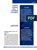 """El premio """"Eugenio Nadal"""" y Carmen Laforet"""