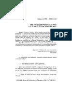 DES MÉDIATIONS ÉDUCATIVES À L'ACTUALITÉ DE JOHN DEWEY