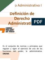 Clase 2 - Definición Del Derecho Administrativo