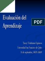 Evaluación de Los Aprendizajes Metodología