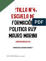 Cartilla 4 Introducción Al Marxismo Leninismo Uno