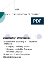 TOPIC 2 - Classification of Company (2)