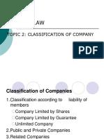 TOPIC 2 - Classification of Company (2)