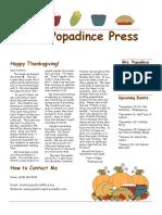 newsletter 11-17-17