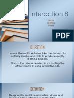 Interaction 8 Jauriah