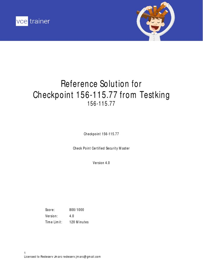 checkpoint testking 156-115 77 v2015-07-30 by dumps 180q