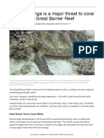 great barrier reef and climate