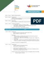 Programa Seminario Politica Educacionsuperiior