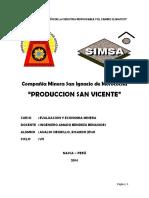 Minera CIA San Vicente