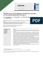 2014 Fiabilidad de los test de diagnóstico de disfunción sacroilíaca y de las pruebas exploratorias de la pelvis.pdf