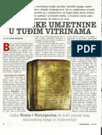 Bosanske umjetnine u tuđim vitrinama - Slobodna Bosna
