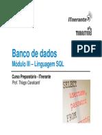 Modulo III - Linguagem SQL - Versao Final