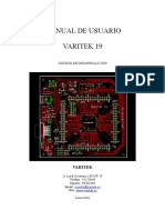 Manual de Usuario Varitek19b