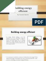 Building Energy Efficient charla