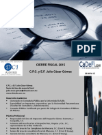 Curso Preparación Cierre Fiscal 2015-Cadefi-26 Noviembre 2015
