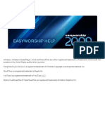 Easy Worship 2009 Manual
