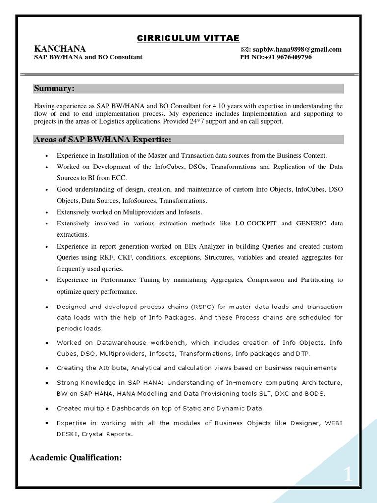 Sa Biw Resume | Information Technology Management | Data Management