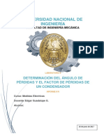 Informe Final - Determinacion Del Angulo de Perdidas y El Factor de Perdidas de Un Condensador